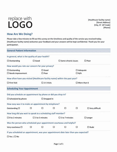 6 sample survey templates excel pdf formats for Questionair template