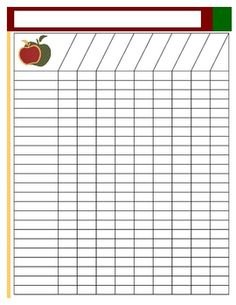 Free Printable Attendance Sheets  Attendance Template