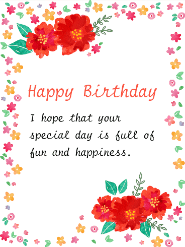 Amazing Birthday Card Templates U2013 Excel PDF Formats  Birthday Wishes Templates Word