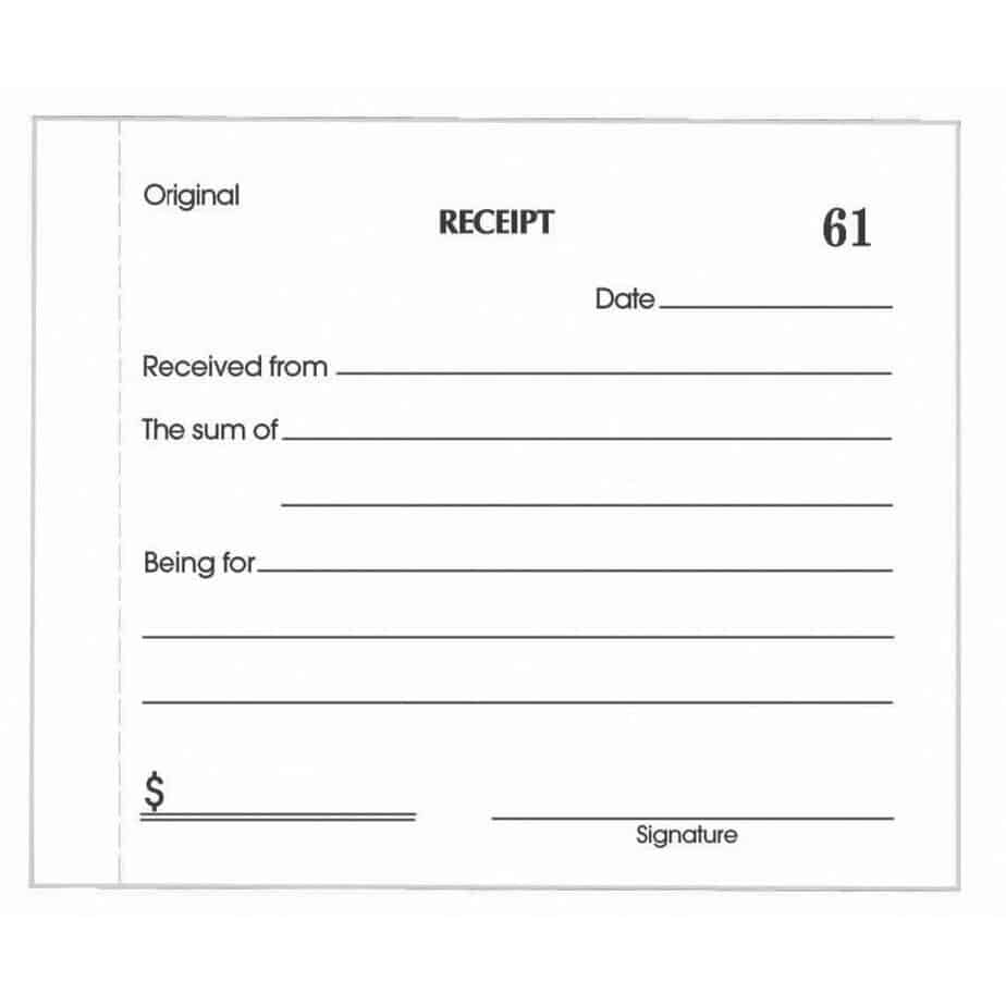 Receipt Sheet  Free Printable Receipt Book