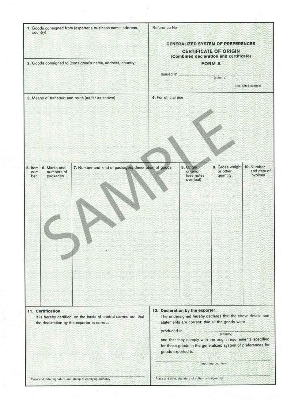 generic bill of lading form