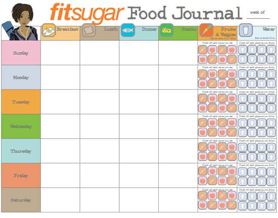 Food Journal Templates - Excel PDF Formats