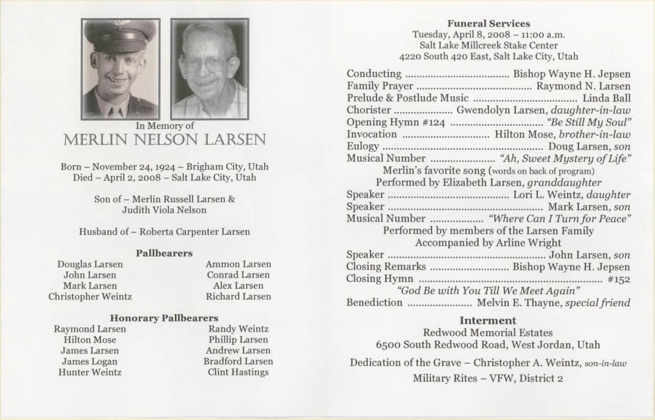 Search results for sample obituary for funeral program for Funeral handouts template