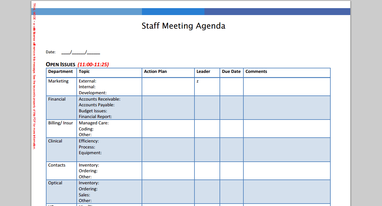 6 meeting agenda templates
