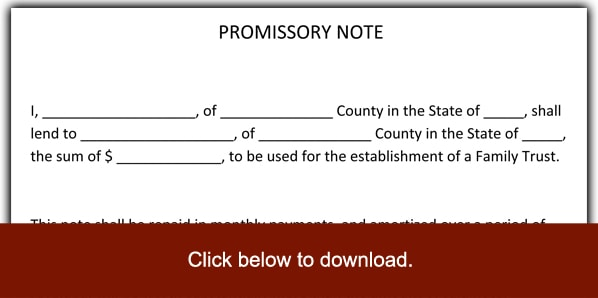 6 Promissory Note Templates Excel Pdf Formats