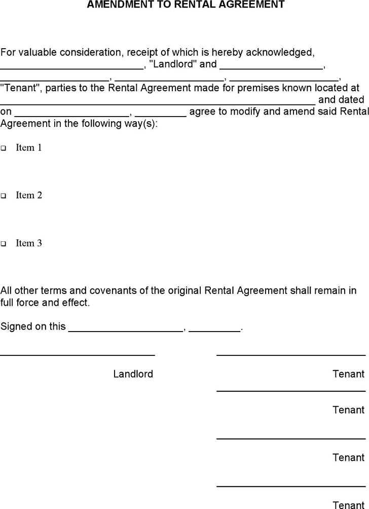 word rental agreement