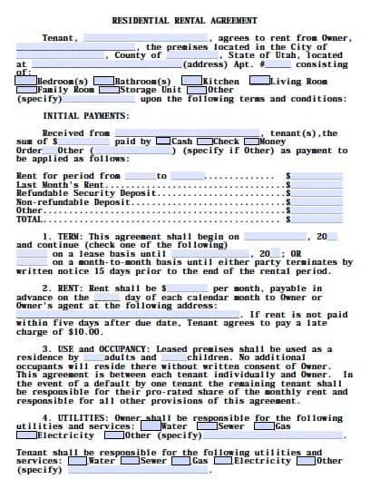 Rental Agreement Templates  Excel Pdf Formats