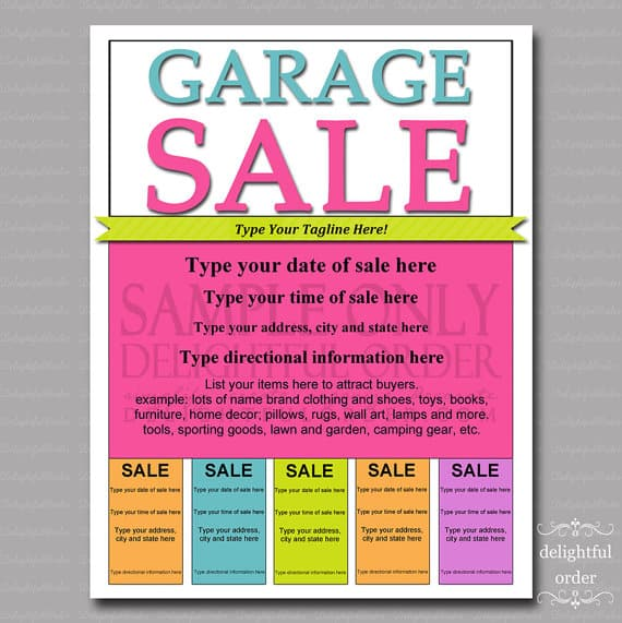 7 sale flyer templates excel pdf formats for Sales brochure template word