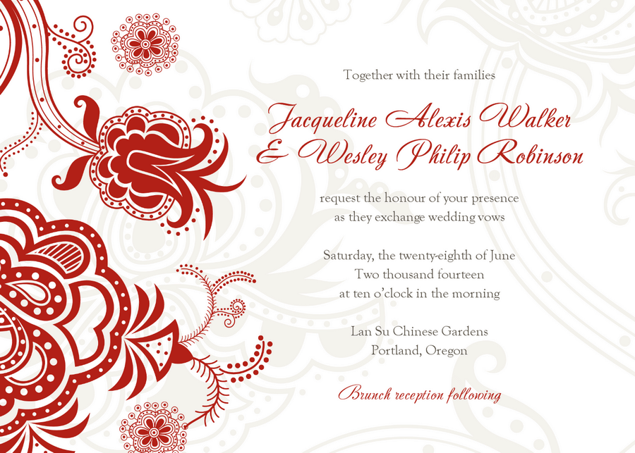 Wedding Invitation Templates Excel PDF Formats - Wedding invitation templates: wedding invitation card design template free download