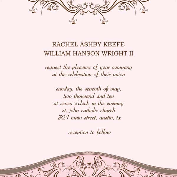 Create Invitation Template: 6 Wedding Invitation Templates