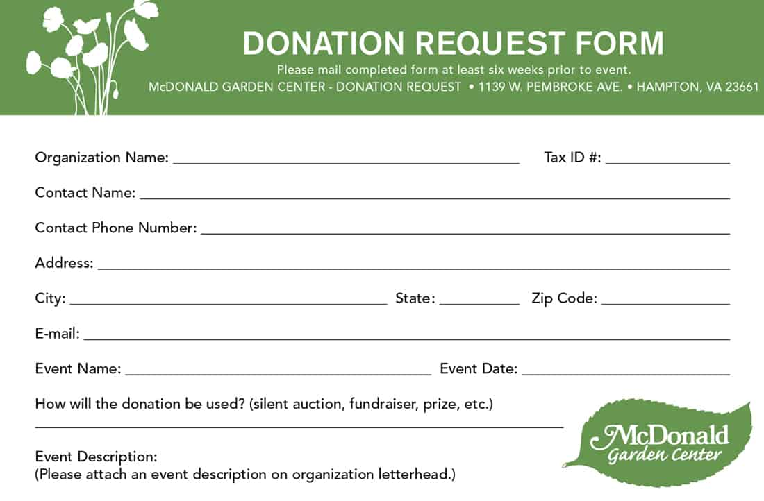 donation form template - Vatoz.atozdevelopment.co