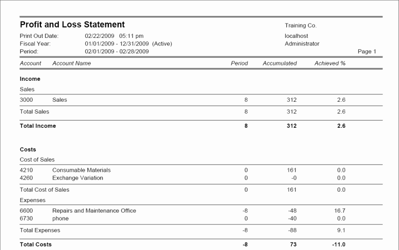 7 Profit and Loss Statement Templates Excel PDF Formats – Loss Profit Statement