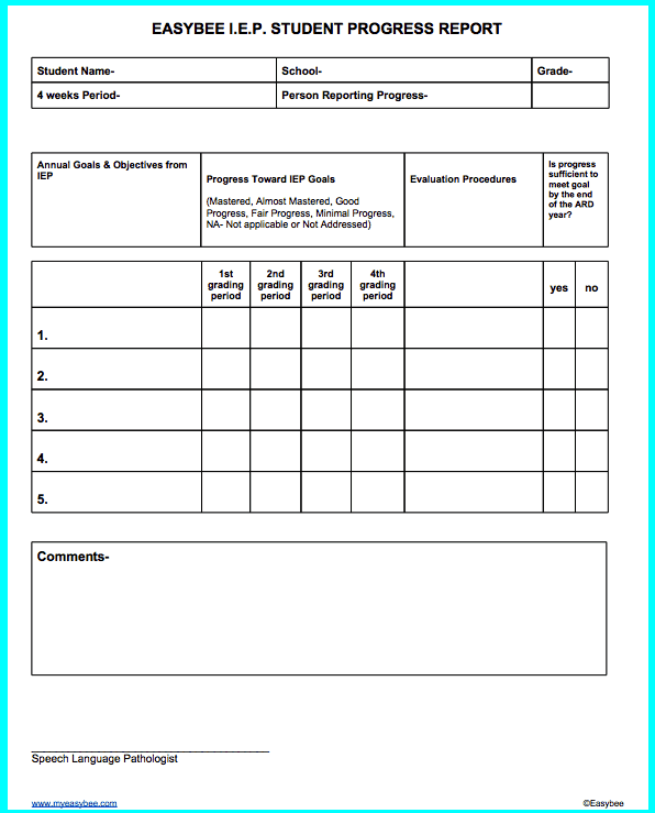 Word MS Templates  Progress Report Template For Students