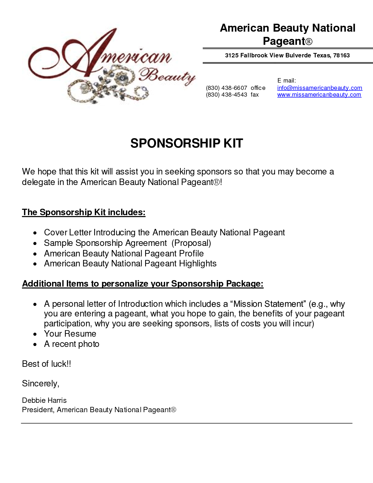 event sponsorship cover letter This document is a starting point and language should be updated to represent the activity or event, and local issues, appropriately your name organization (if applicable) address phone.
