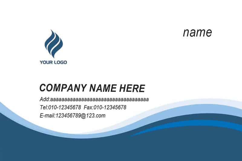 Doc585362 Sample Name Card Name Card Template 16 Free Sample – Name Card Example