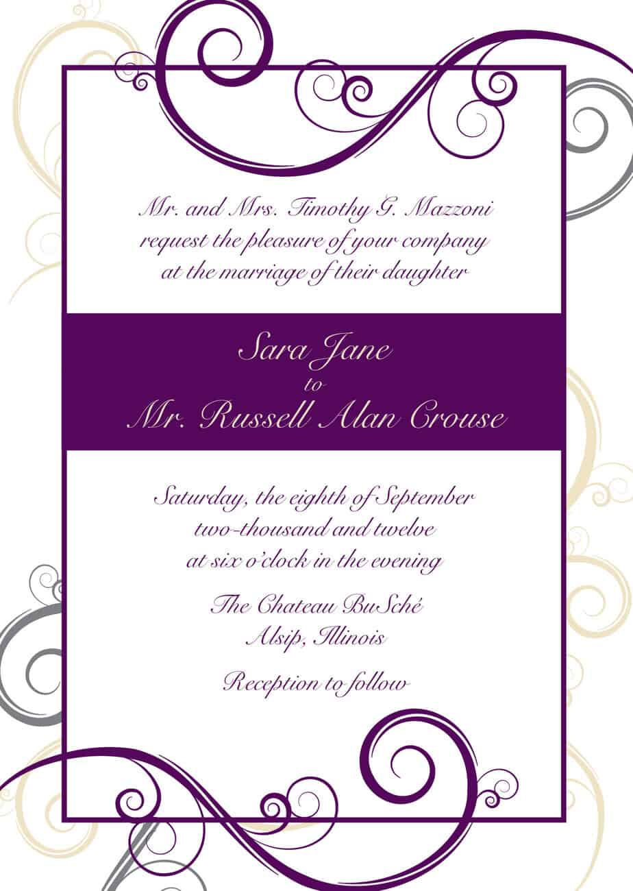 10 invitation templates excel pdf formats for Free wedding templates