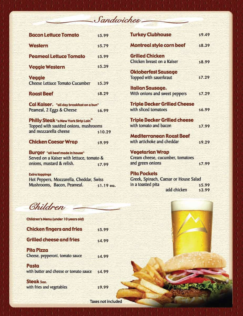 Word MS Templates  Free Cafe Menu Templates For Word