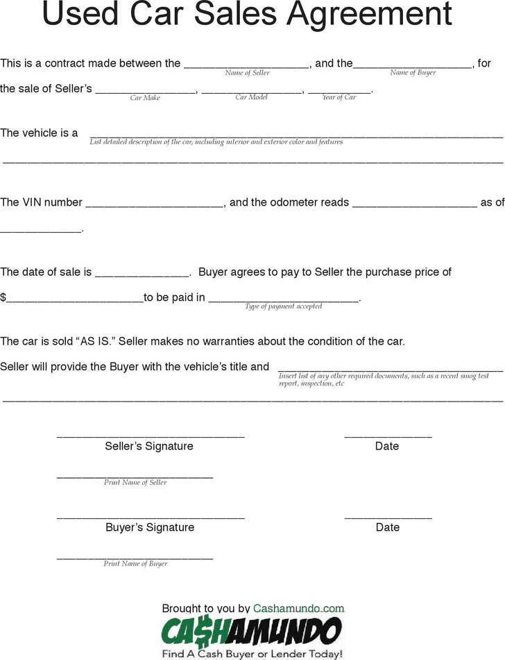 Free business agreement form