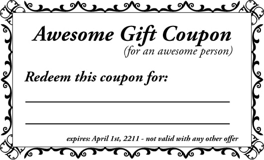 custom coupons free template