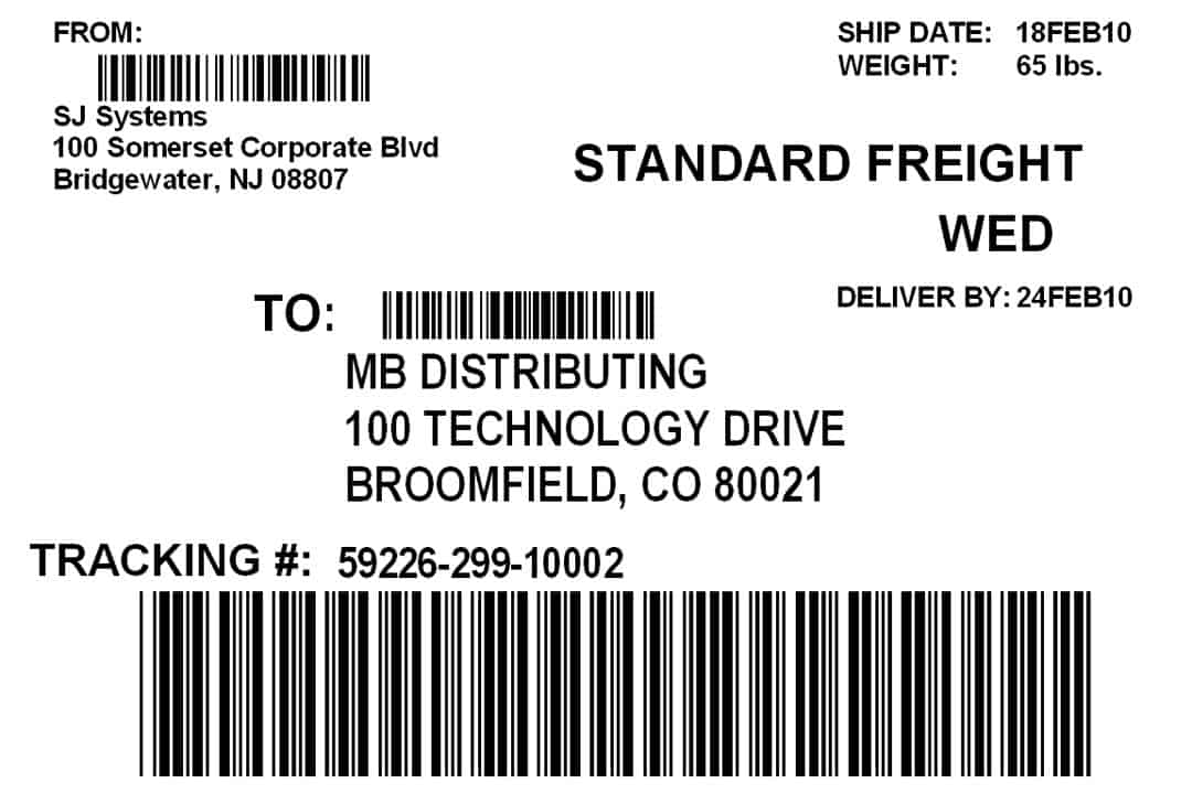 7 shipping label template excel pdf formats for How to send a shipping label to someone