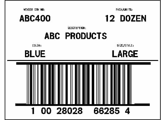 word 2007 shipping label