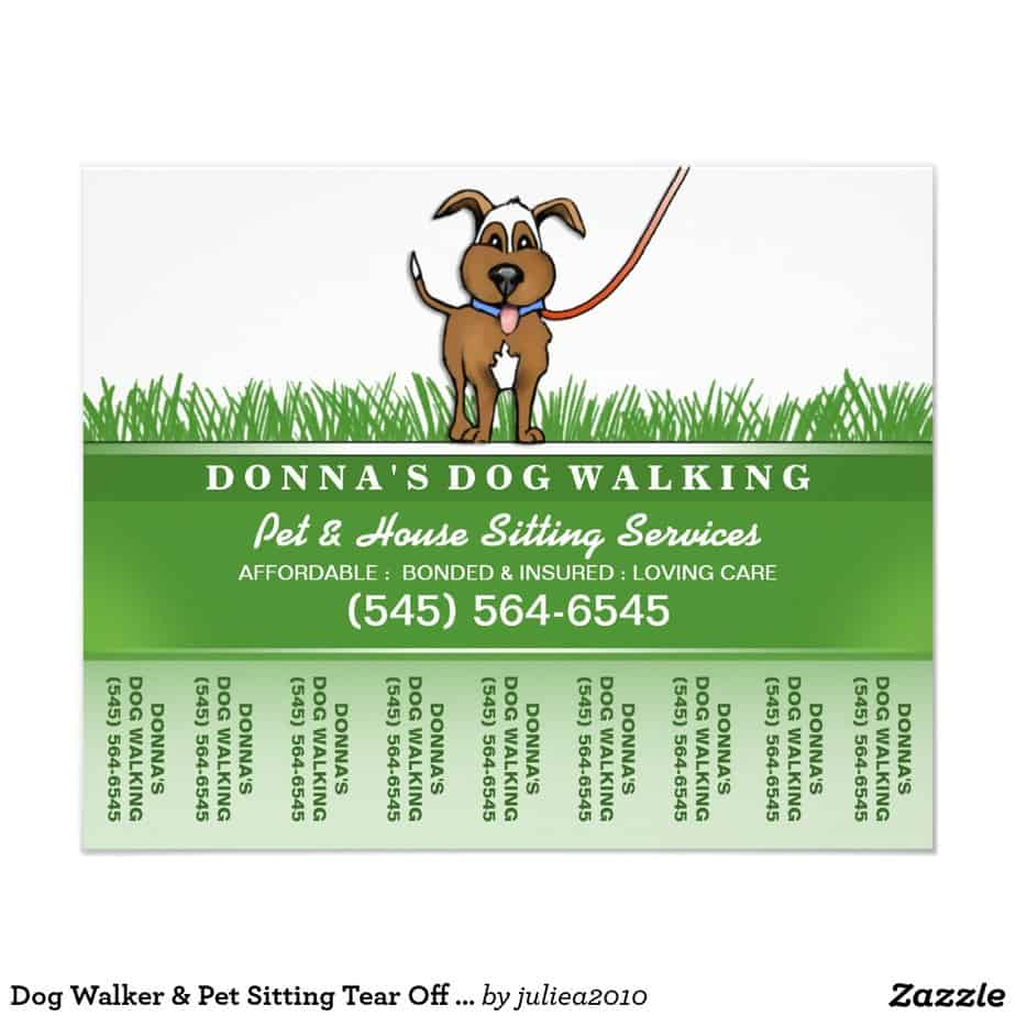 18 tear off flyer templates excel pdf formats for Dog walking flyer template free