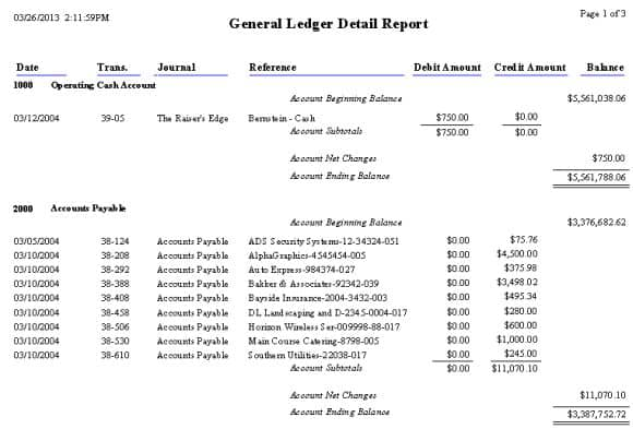General Ledger Templates  Excel Pdf Formats