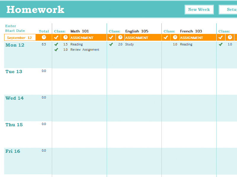 Weekly Task Report Template