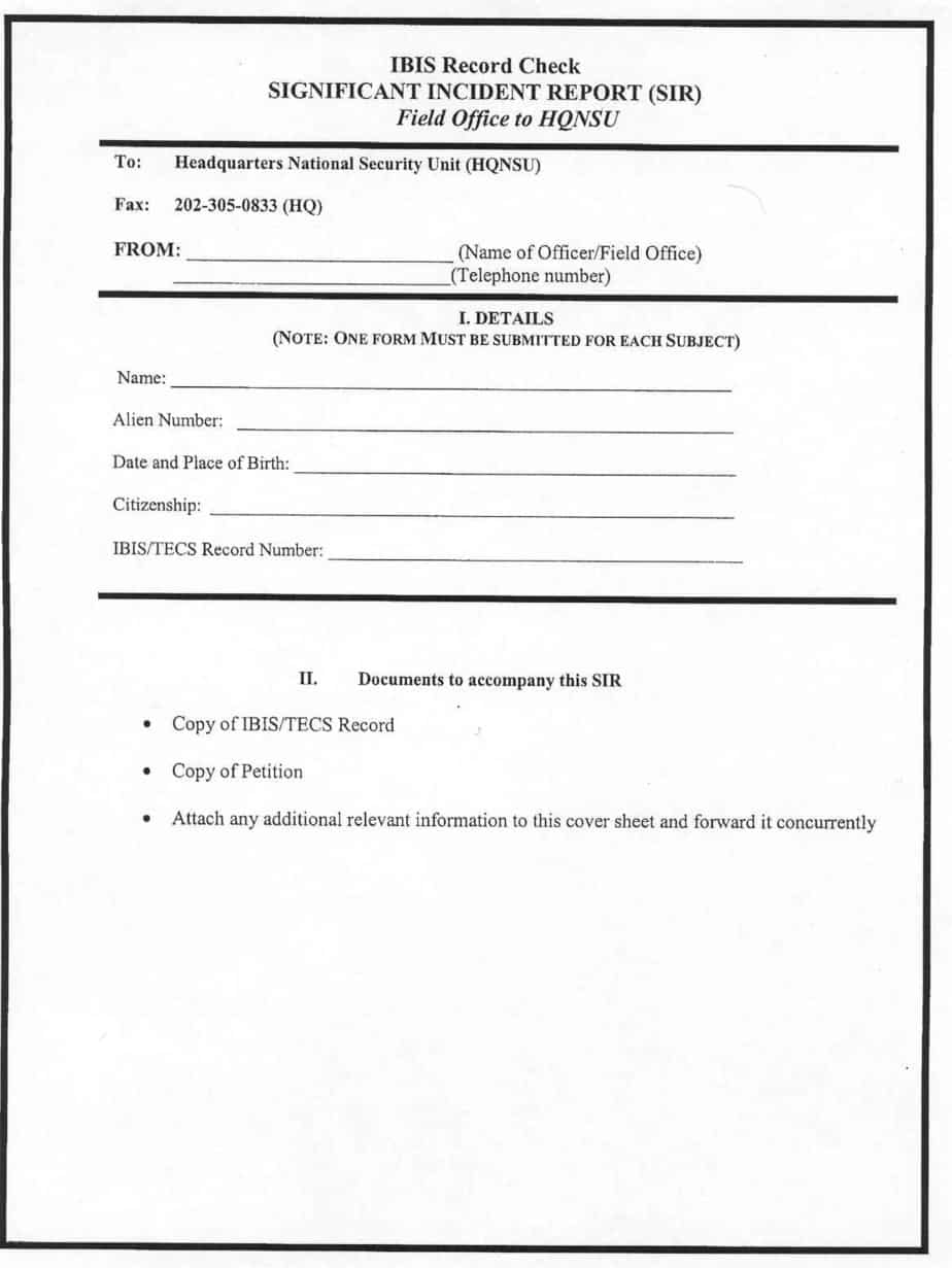 Incident Report Template leave templates – Sample Incident Report Form