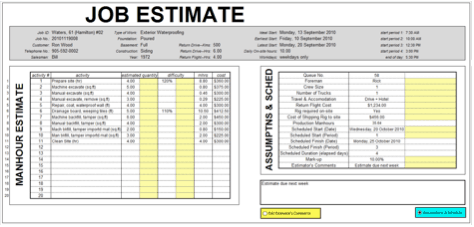 Great Word MS Templates Intended For Job Estimate Sheet