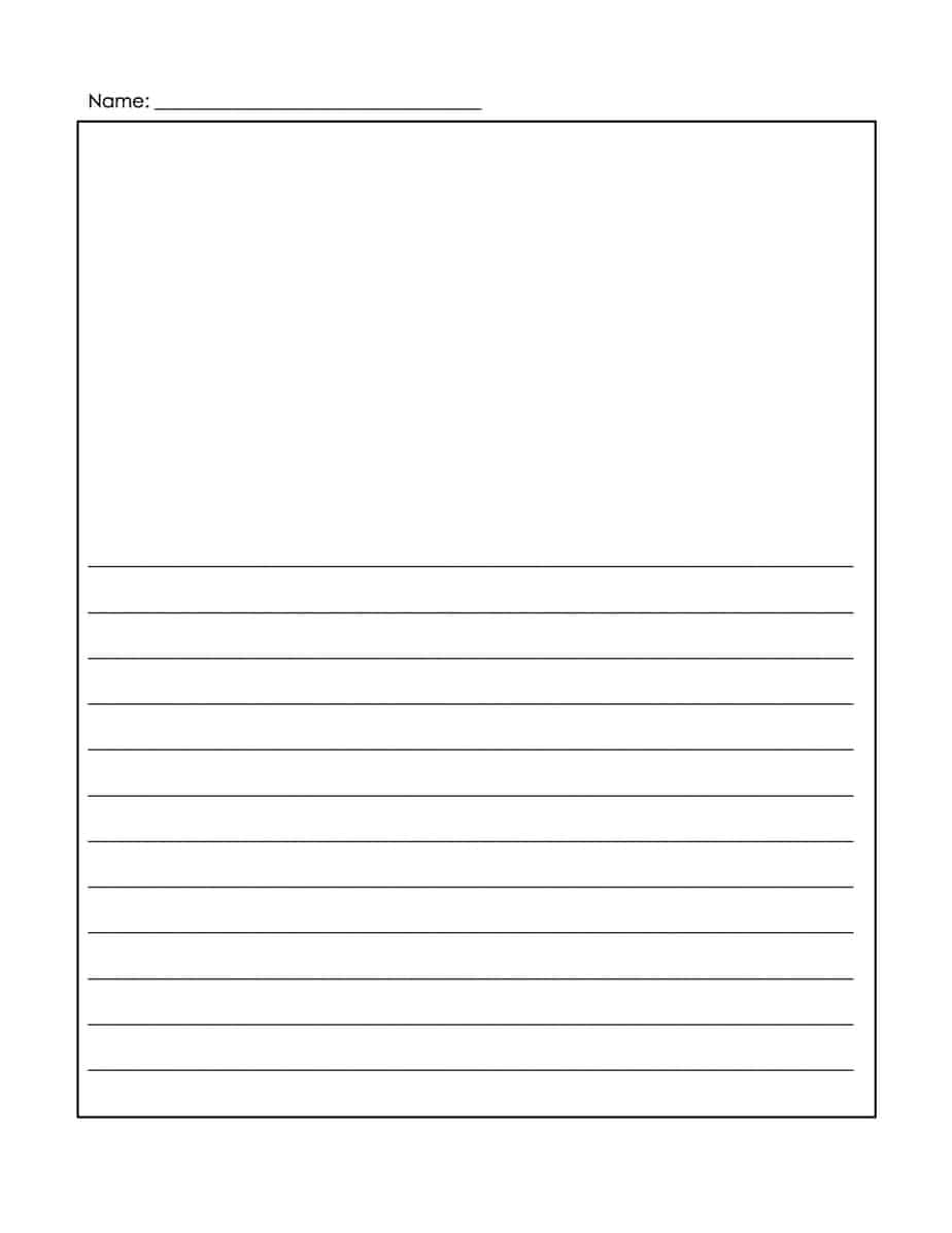 Word MS Templates  Elementary Lined Paper Template