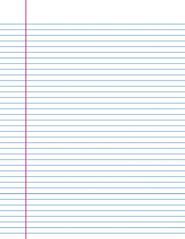 wide lined writing paper – Free Lined Paper to Print