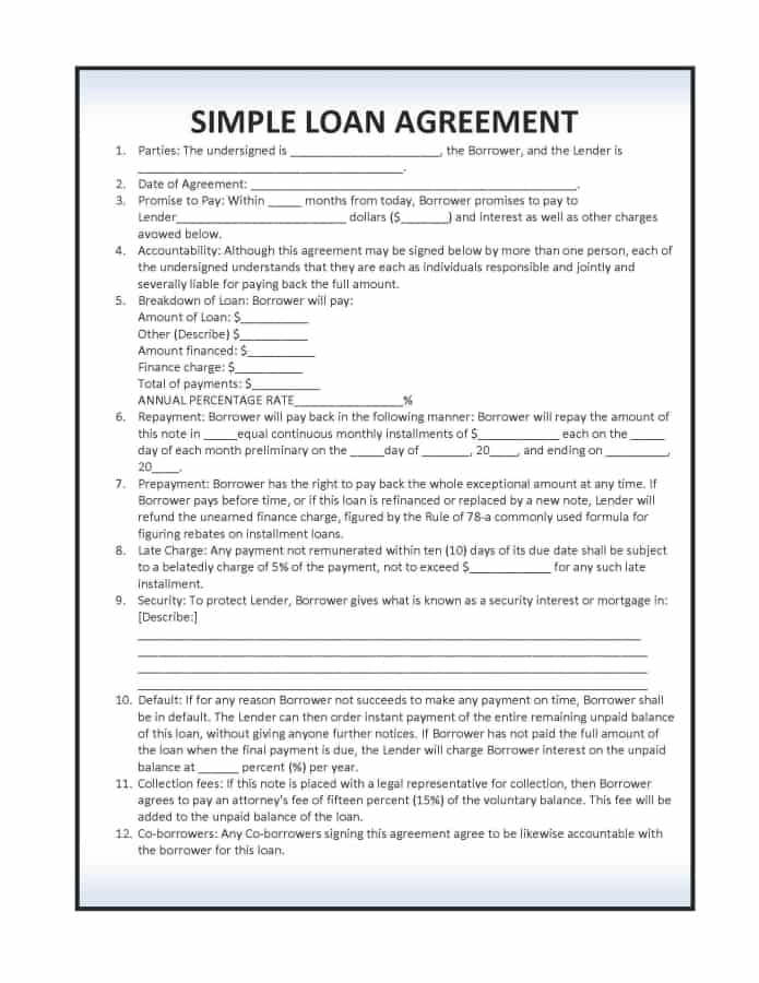 14 loan agreement templates excel pdf formats. Black Bedroom Furniture Sets. Home Design Ideas
