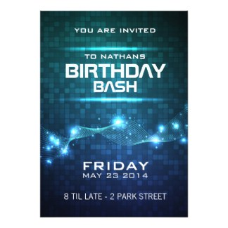 Party Invitations Excel PDF Formats - Party invitation template: club party invitation template