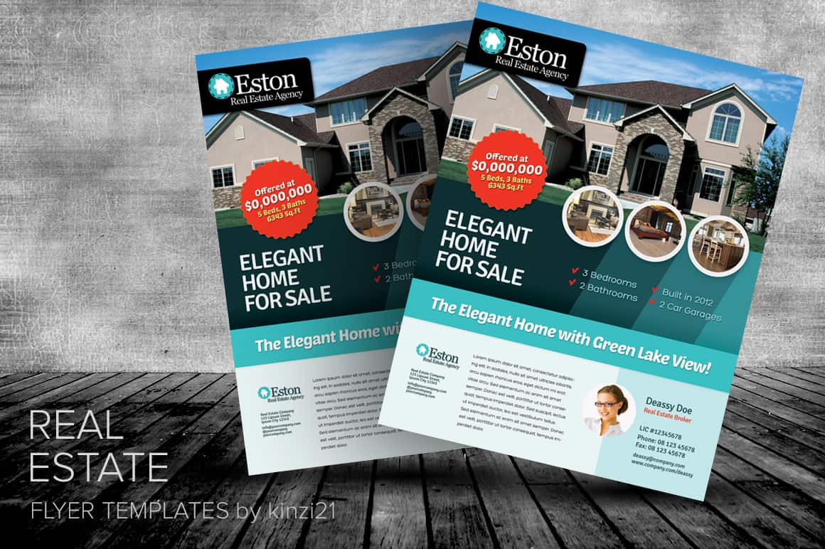 13 real estate flyer templates excel pdf formats for Free templates for brochures and flyers