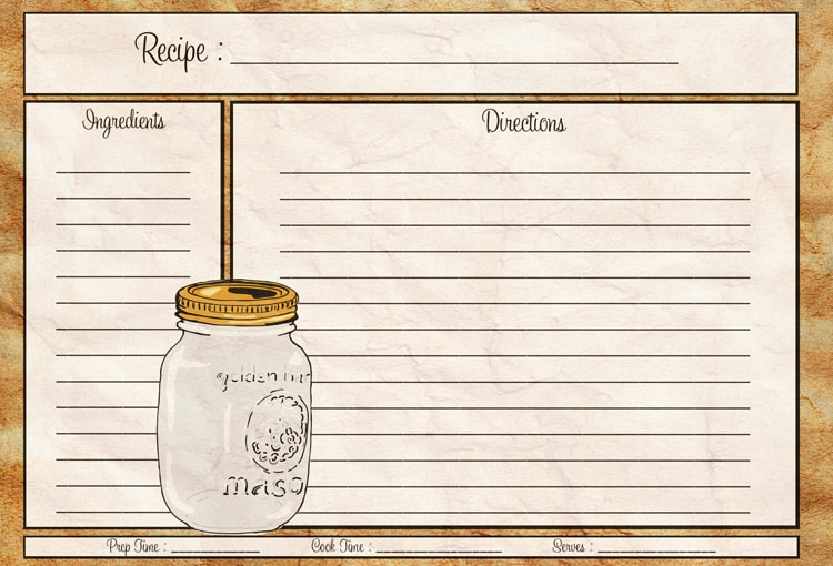 Blank Recipe Template. Free Printable Recipe Card By Little Green .