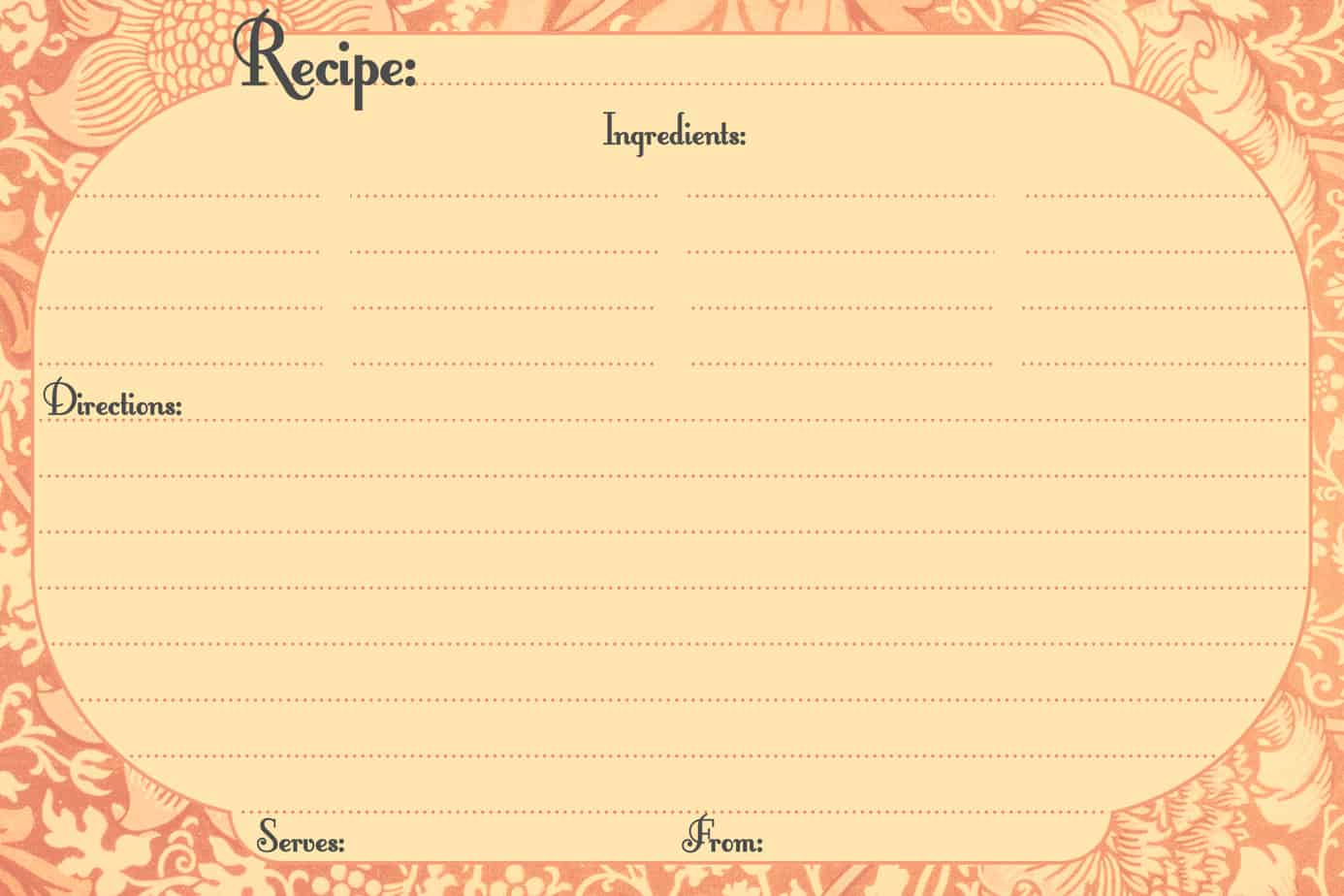 13 Recipe Card Templates Excel PDF Formats – Microsoft Office Recipe Card Template