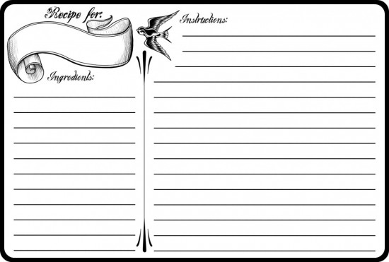 Word MS Templates For Free Recipe Card Templates For Word