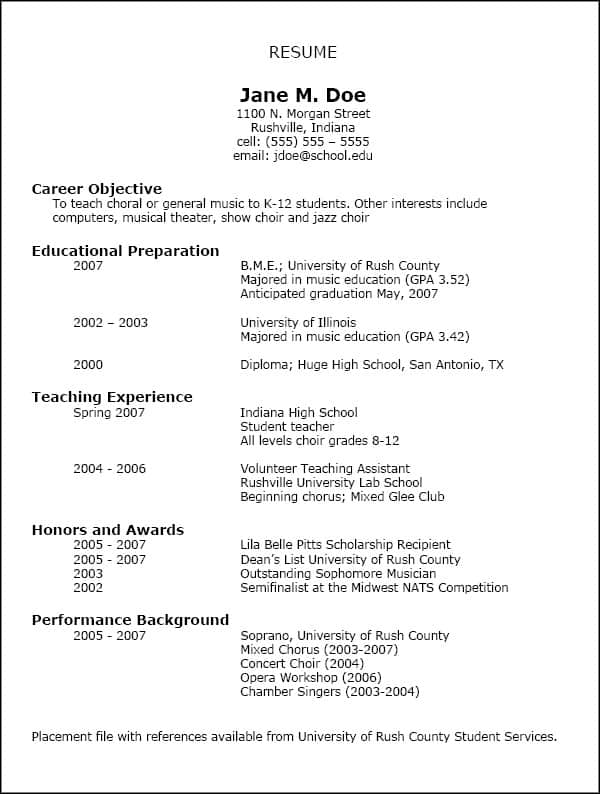 16 free resume templates excel pdf formats - Sample Of Resume Format