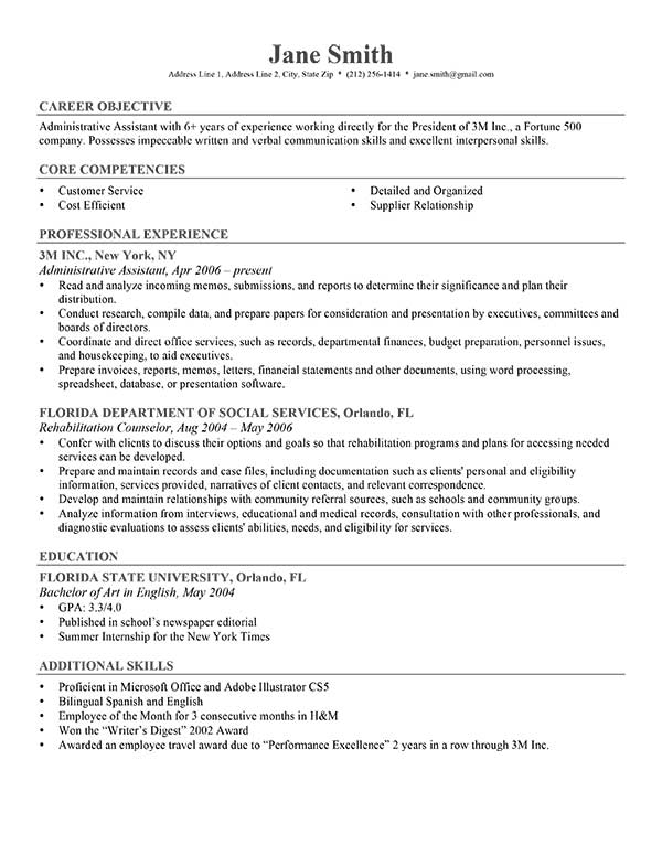 Free Resume Formats  Resume Format And Resume Maker