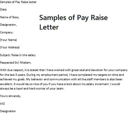 8 Salary Increase Templates Excel PDF Formats – Raise Letter Template