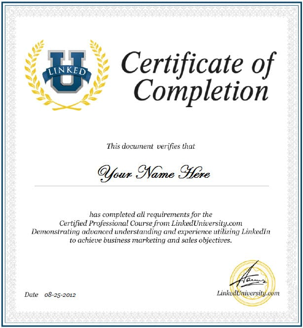 Word MS Templates  Course Completion Certificate Format