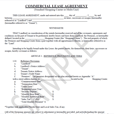 13 Commercial Lease Agreement Templates Excel PDF Formats – Commercial Lease Form