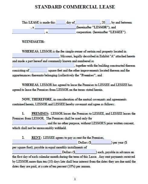 13 Commercial Lease Agreement Templates Excel PDF Formats – Commercial Lease Agreement Template Free