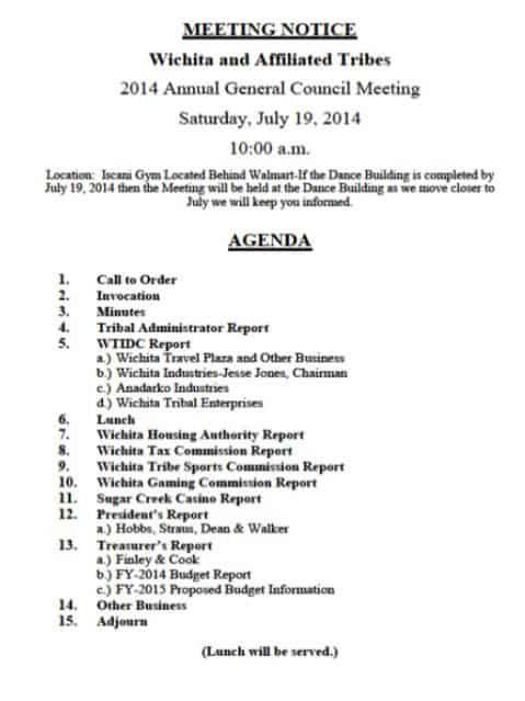 15 meeting agenda templates excel pdf formats for Notice of board meeting template