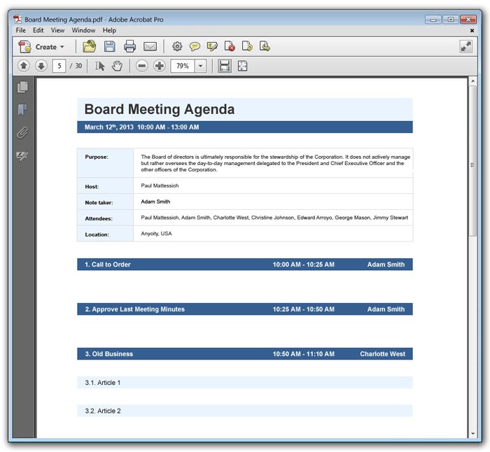 Word MS Templates  Professional Meeting Agenda Template