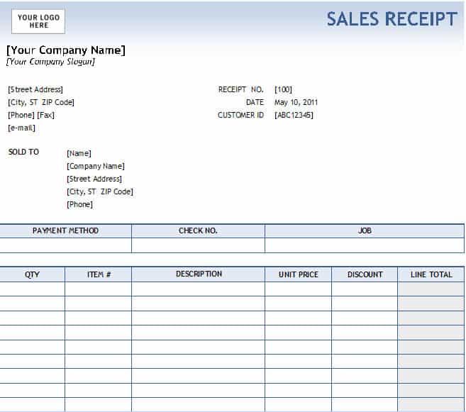17 Sales Receipt Templates Excel PDF Formats – Transaction Receipt Template