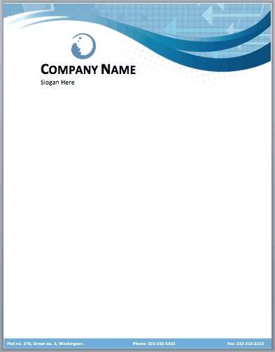 17 company letterhead templates excel pdf formats for Word letterhead template with logo