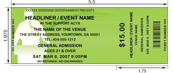 14 Event Ticket Templates Excel PDF Formats – Free Event Ticket Template Microsoft Word