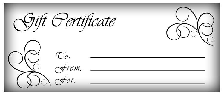 gift certifcate template  gift card templates free printable - Hatch.urbanskript.co